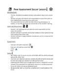 Soccer skills assessment challenge with instructions