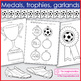 Sport theme art activity  - soccer coloring pages