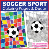Soccer Sport Coloring Pages, Art Activities and Decor