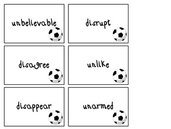 Soccer themed Un- and dis board game