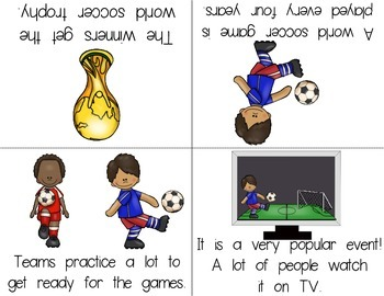 Soccer/Football and The Big World Event Foldable Readers Pack PLUS Printable