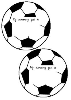 Soccer ball Numeracy Goals