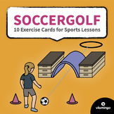 Soccergolf - 10 Exercise Cards for Sports Lessons   vlamingo