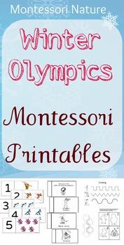 Sochi Sports Games Montessori Printable Cards & Worksheets.
