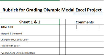 Winter Olympic 2018 Medal Count Computer Project in Excel