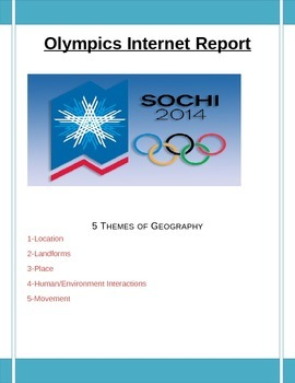 Sochi Olympics Geography Internet Research Report: Full Edition
