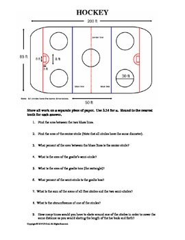 Math and Sports Geometry - Hockey and Curling (Area and Ci