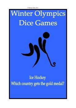 Sochi Winter Olympics Math Dice Games Ice Hockey 2014 3rd 4th 5th 6th