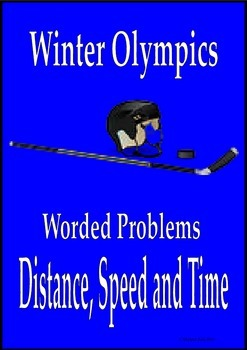 Sochi Winter Olympics math worded problems distance speed time