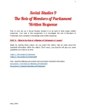 Social 9 - The Role of a Member of Parliament