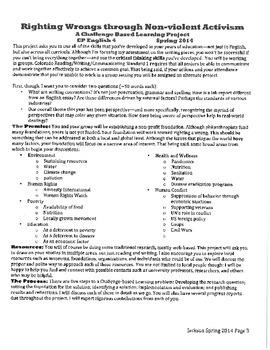 Social Activism/ Challenge Based Learning