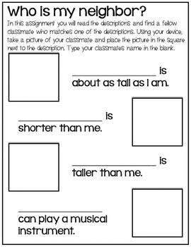 Social Awareness Google Classroom Assignment