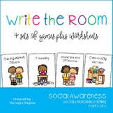 Social Awareness Part 3:  Write the Room Plus Worksheets and Writing Activities
