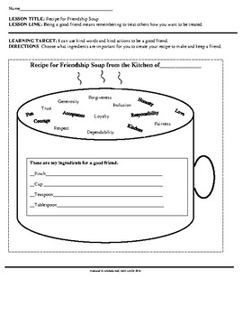Social Awareness: Recipe for Friendship Soup!