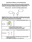 Social Skills Behavior Reflection and Goal Setting Activity