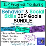 Social & Behavior IEP Goal Bundle with Data Sheets (for Google Drive)