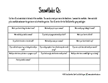 Social Butterflies Club  Snowflake Qs