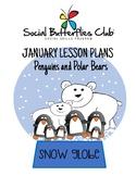 "Social Butterflies Club® Social Skills Group Lesson Plans-""Penguins&Polar Bears"""