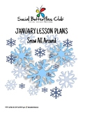 """Social Butterflies Club® Social Skills Group Lesson Plans- """"Snow All Around"""""""