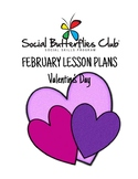 """Social Butterflies Club® Social Skills Group Lesson Plans-""""Valentine's Day"""""""