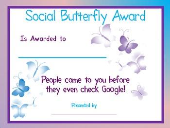 Social Butterfly Award