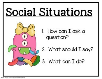 Social Skills Monsters! Pragmatic Language Activities