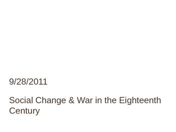 Social Change & War in the Eighteenth Century