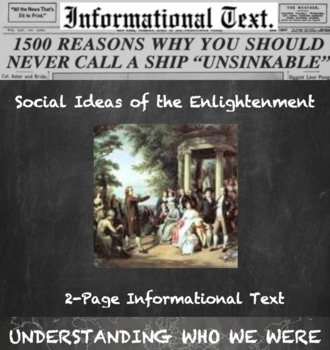 Social Changes of the Enlightenment