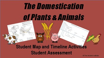 Domestication: Map & Timeline Activity for Prehistory, Neolithic, or Mesopotamia