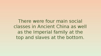 Social Classes in Ancient China Pack