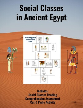 Social Classes in Ancient Egypt: A Cut & Paste Activity