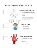 Social Communication Conversation Checklist