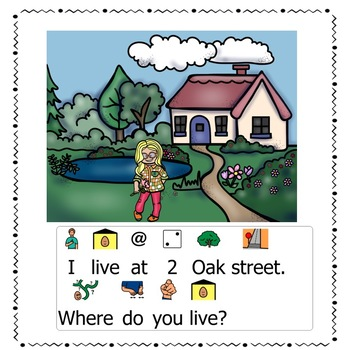 Social Communication Visual Supports, Basic Questions Story, SPRING