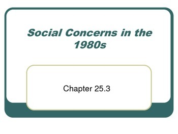 Social Concerns in the 1980s
