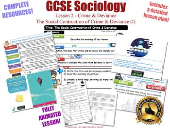 Social Construction of Crime & Deviance- Crime & Deviance L2/20 (GCSE Sociology)