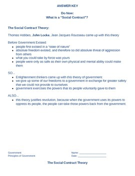 Social Contract Theory guided notes