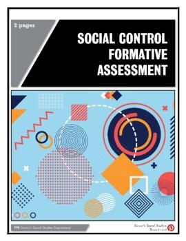 Social Control Formative Assessment