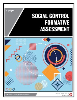 Social Control Formative Assessment