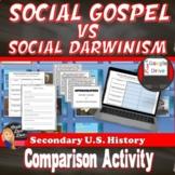 Social Darwin vs Social Gospel Lecture & Activity (U.S. History)