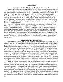 Social Darwinism Debate - Excerpts & Primary Source DBQs