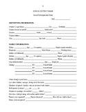Social Developmental Study (SDS) Form