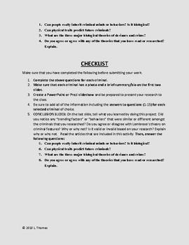Sociology: Deviance & Criminal Behavior Research Project