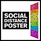 Social Distancing Poster - Back to School 2020 Bulletin Bo