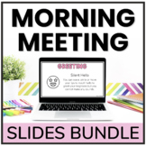Social Distance Digital Morning Meetings for ENTIRE YEAR |