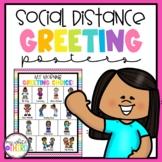 Social Distance Greeting Posters // Coronavirus // Covid19 //