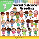 Social Distance Greetings Clip Art (Without Masks)