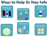 Social Distance Poster:  Ways to Stay Safe Expectations du