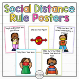 Social Distancing Rule Posters for Back to School Distance