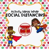 Social Distancing Activity Sheets- FREEBIE