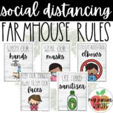 Social Distancing Classroom Rules | Farmhouse Theme